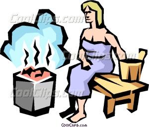 Sauna clipart Lady art Sauna Vector lady