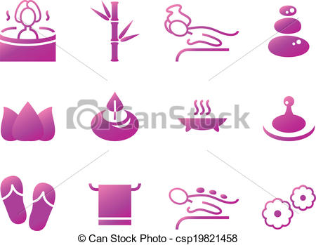 Sauna clipart water vapor Wellness icons  isolated and