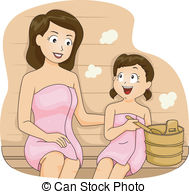 Sauna clipart spa Being and Vector Kids Daughter