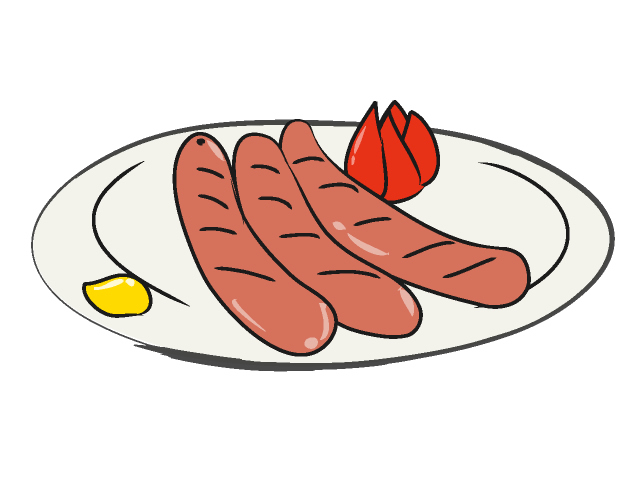 Sausage clipart Sausage ClipArt cartoon clipart Food