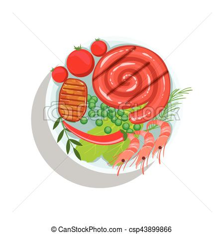 Steak clipart plate food Shrimps Beef Shrimps Rolled Sausage