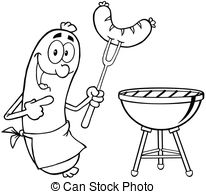 Sausage clipart happy #2
