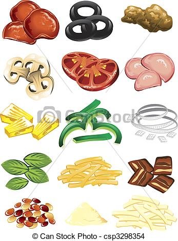 Mushroom clipart topping  Pizza Clipart Toppings