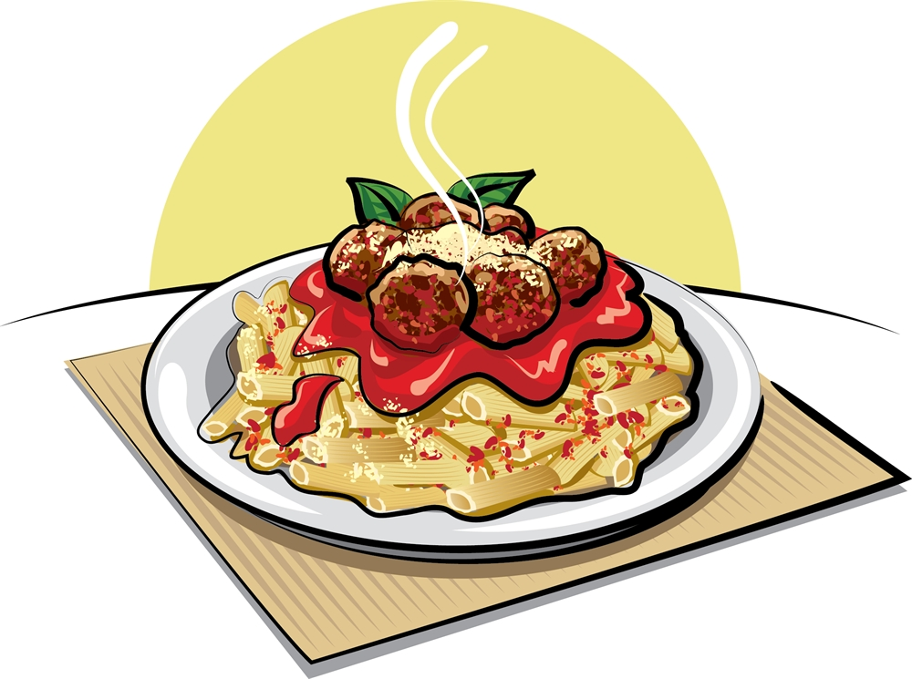 Sause clipart spaghetti dinner Food dinner Pasta of Clipart