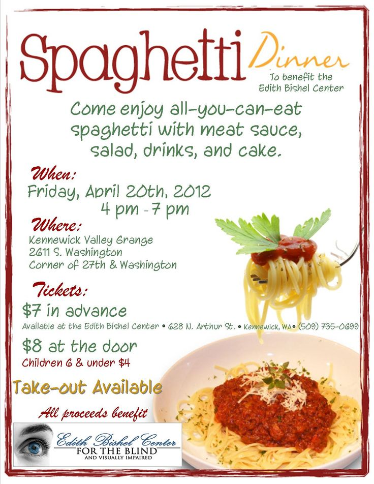 Sause clipart spaghetti dinner Fundraiser Dinner this on Fundraiser