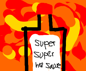 Sauce clipart super hot Super (drawing hot super hot