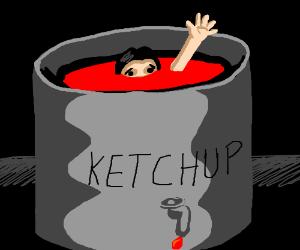 Sause clipart vat Ketchup drowning of sauce vat