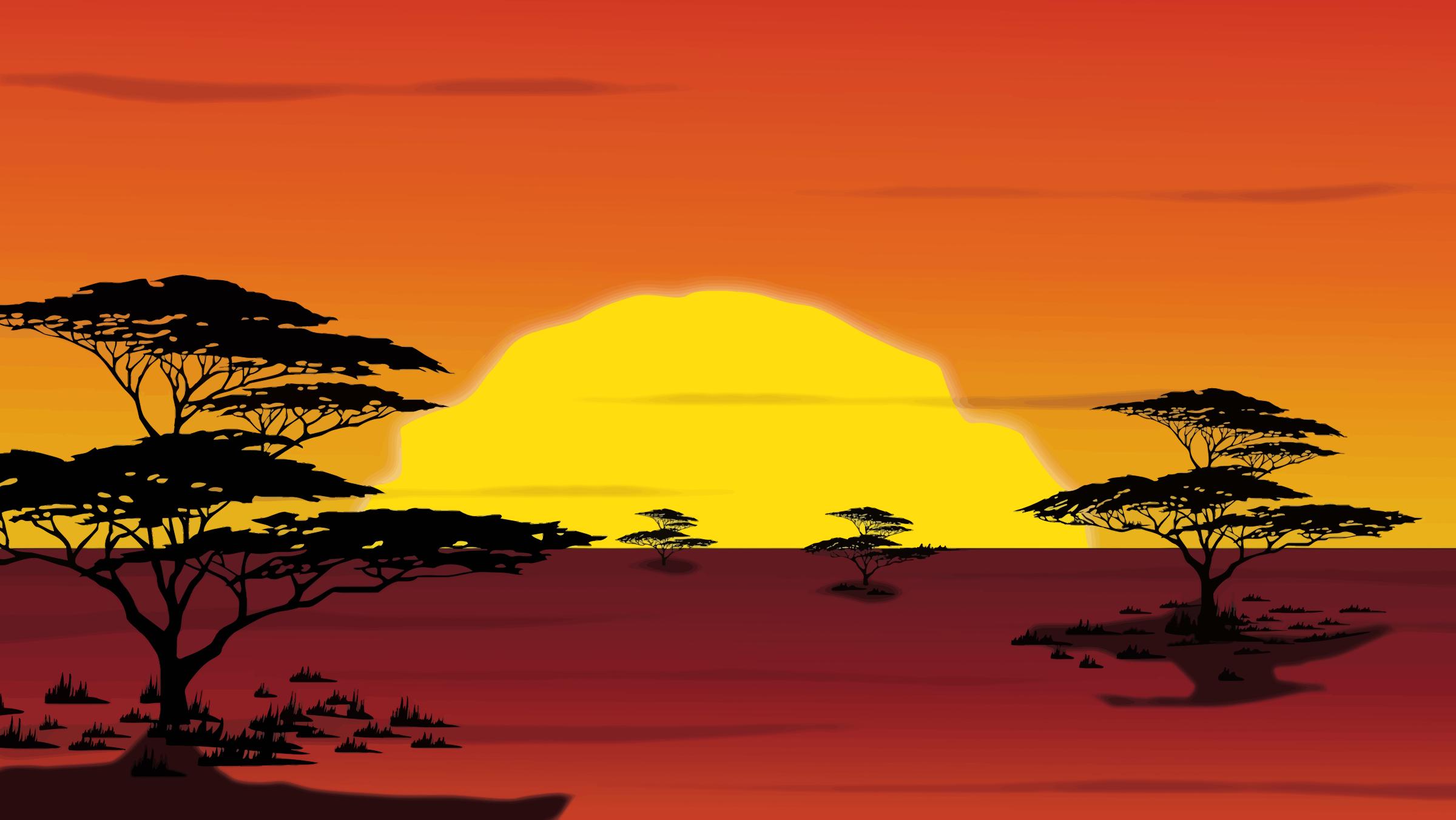 Savannah clipart Sunset Savannah Clipart Sunset Savannah