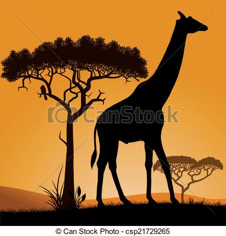 Savannah clipart Art African Clip csp21729265 in