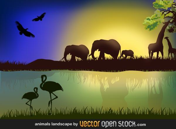 Savannah clipart african savanna #7