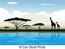 Savannah clipart african savanna #8