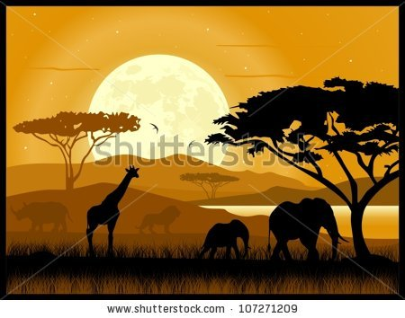 Savannah clipart african savanna #4