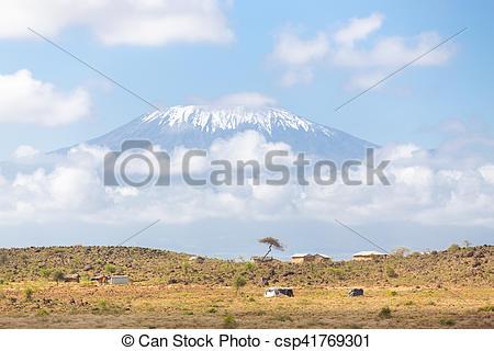 Savannah clipart kilimanjaro #3