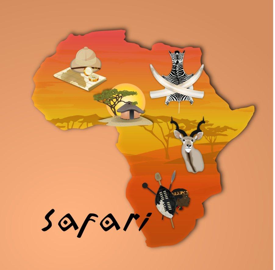Adventure clipart african safari Safari  African Clipart
