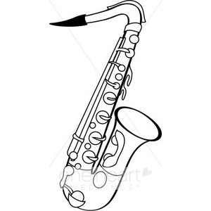 Saxophone clipart guy Cartoon Clipart alto Clipart Saxophone