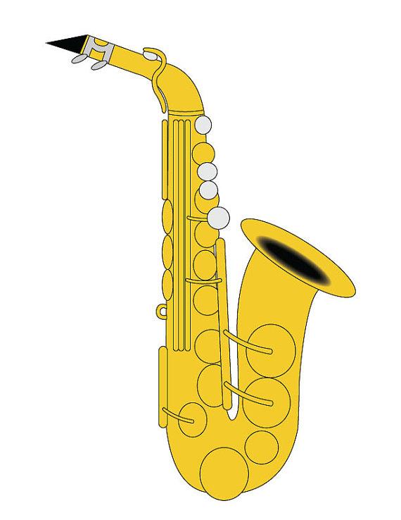 Saxophone clipart Vector/ Clip Saxophone Clip Saxophone