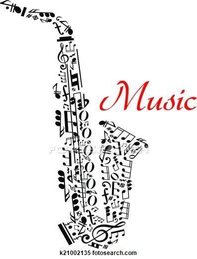 Saxophone clipart bass clarinet #10