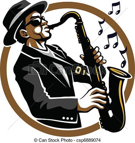 Saxophone clipart blue Icon stock art icon stock