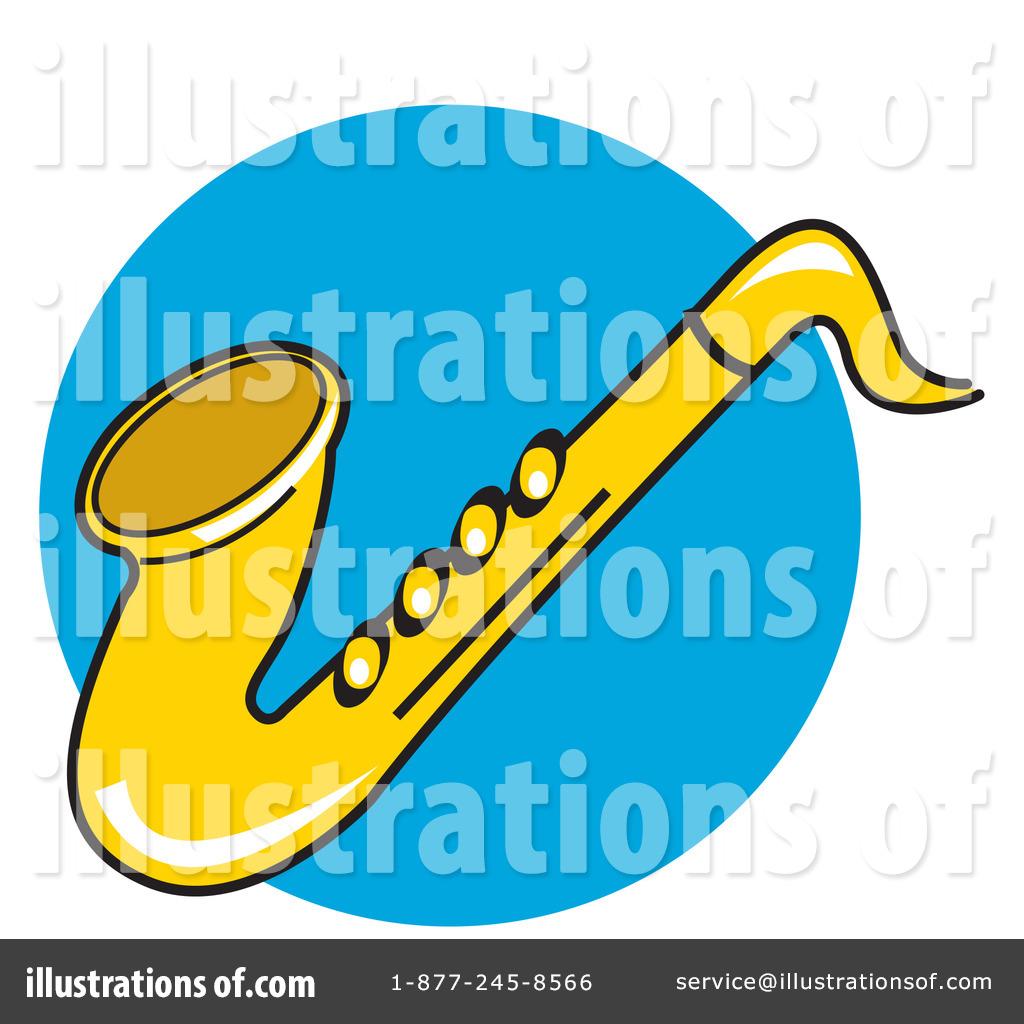 Saxophone clipart blue #5