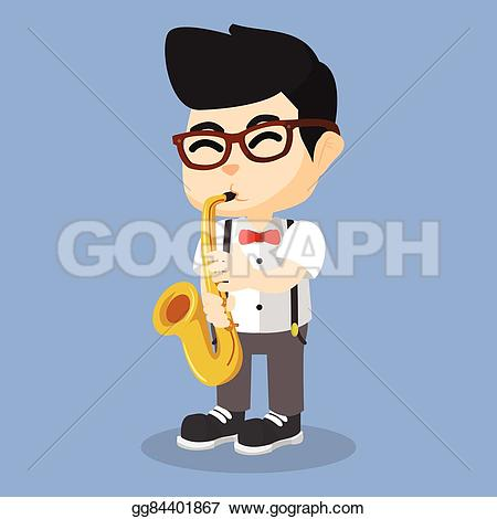 Saxophone clipart blue Vector playing gg84401867  playing