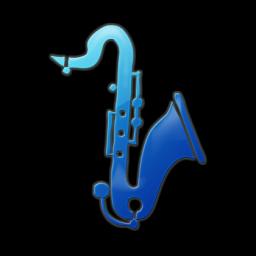 Saxophone clipart blue #3
