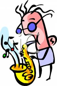 Saxophone clipart blues music The Royalty Royalty Clipart Playing