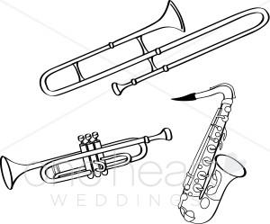 Saxophone clipart brass instrument Brass Clipart Music Brass Wedding