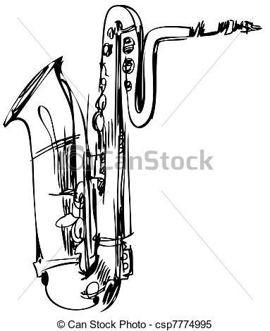 Saxophone clipart brass instrument Musical instrument saxophone Clipart Vector