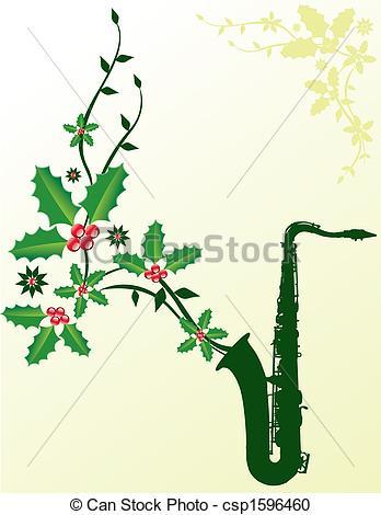 Saxophone clipart christmas #5