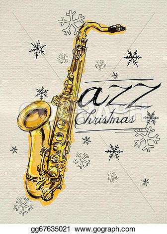 Saxophone clipart christmas #4