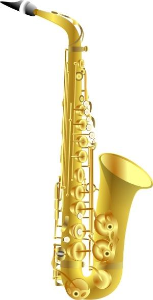 Saxophone clipart christmas #6