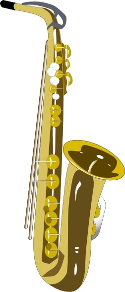 Saxophone clipart christmas #9
