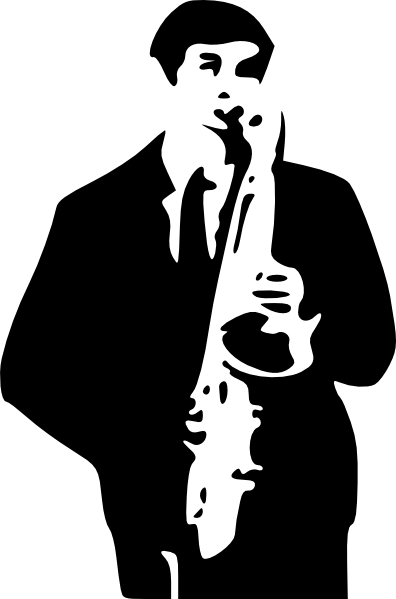 Saxophone clipart guy Player Art SVG Downloads Saxophone