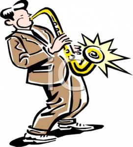 Saxophone clipart guy #5