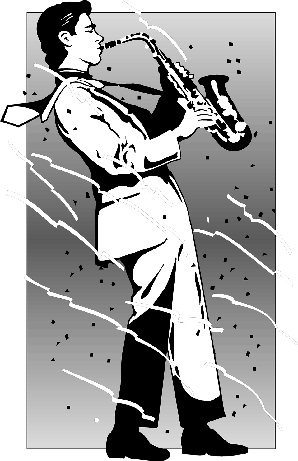 Saxophone clipart guy Of Clip Person Playing Man