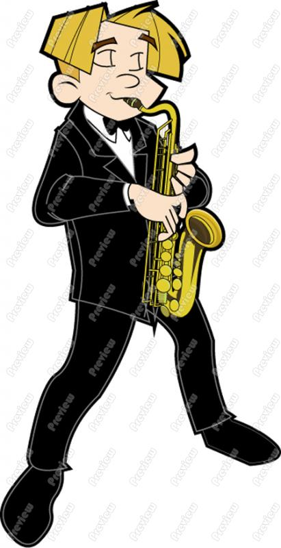 Saxophone clipart guy Art Cartoon Guy Playing Guy