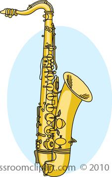 Saxophone clipart instrument : 0710R Clipart jpg Musical