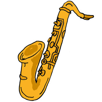 Saxophone clipart music instrument #1