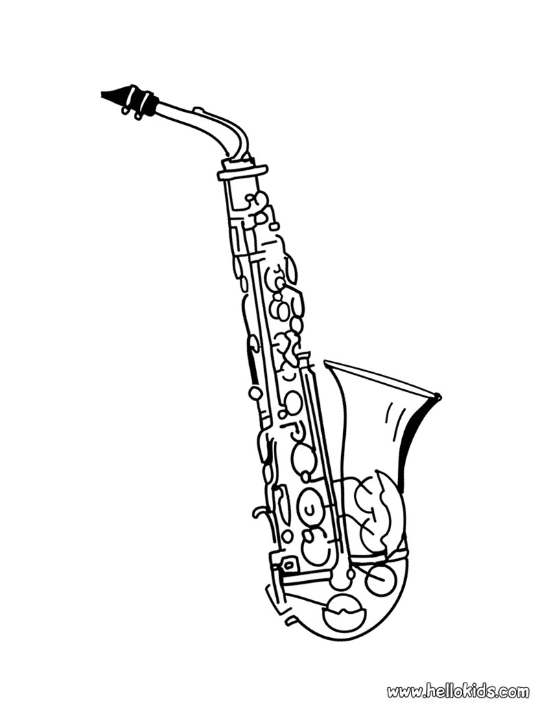 Saxophone clipart music instrument #4