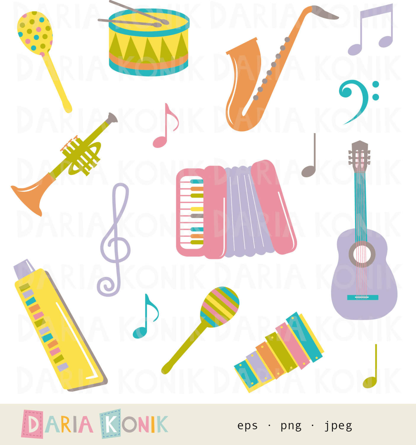Saxophone clipart music instrument #6