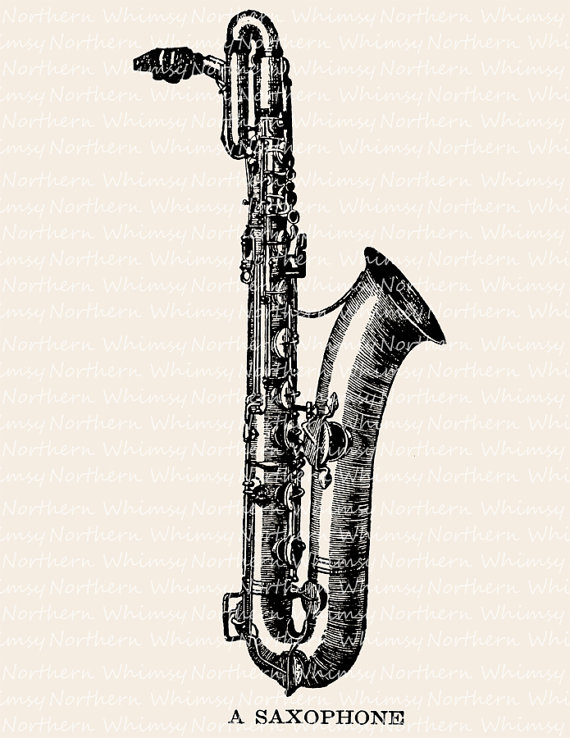 Saxophone clipart music instrument #11