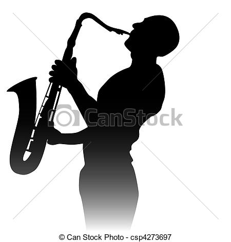 Saxophone clipart saxophone player Player black of a Illustration