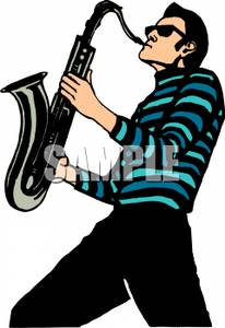 Saxophone clipart saxophone player Royalty Free Playing A Picture