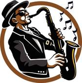 Saxophone clipart saxophone player Silhouette Royalty Saxophone Player GoGraph