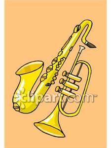 Saxophone clipart trumpet Free Picture and Saxophone Clipart