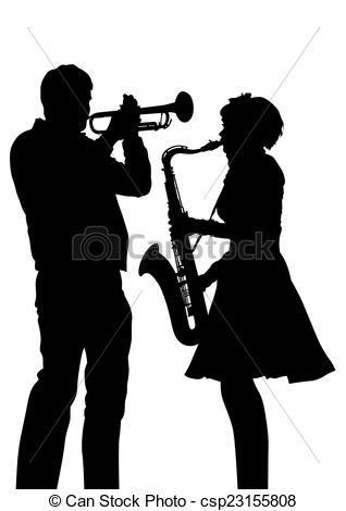 Saxophone clipart trumpet Music whit Trumpet  and