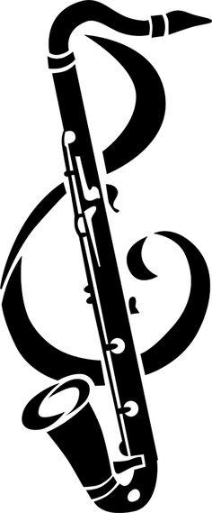 Saxophone clipart wind instrument Clef & Clarinet Saxophone Swarovski