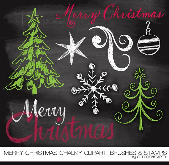 Merry Christmas clipart chalkboard Best Merry clipart Photoshop ideas
