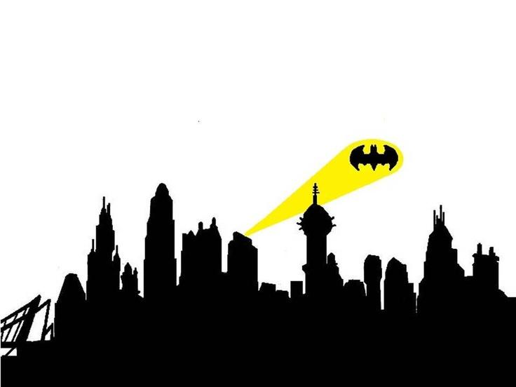 Building clipart gotham city  Best Silhouette Inspirations Pinterest
