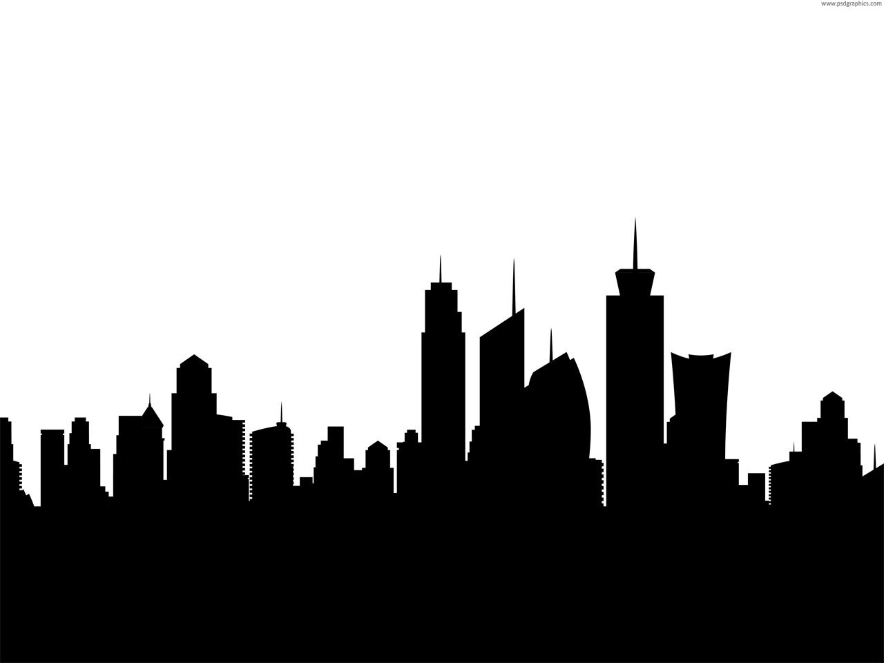 Cityscape clipart vector free download PSDGraphics  silhouette Art Cityscape